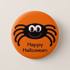 Shop Cute Orange Halloween Spider Button created by Molly_Sky. Pebble Painting, Pebble Art, Stone Painting, Diy Painting, Halloween Rocks, Halloween Spider, Halloween Cards, Halloween Ideas, Painted Wood Signs