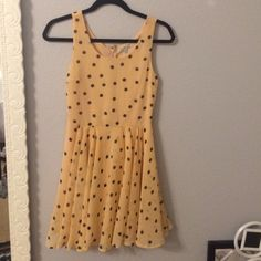 Polka Dot Dress Adorable polka dot dress that can be dresses up or down. I've only worn it twice, one to a dinner and the other to a singing recital :) Size XS but I'm a S and it fits me.  let me know if you have any questions! Charlotte Russe Dresses Mini