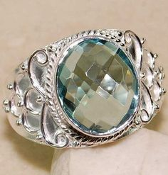 6ct Aquamarine 925 Solid Sterling Silver