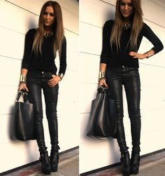 Black and Black  (by Nicola Kirkbride) http://lookbook.nu/look/2809543-Black-and-Black