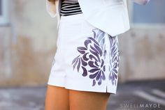 swellmayde: DIY | Mirrored Floral Shorts