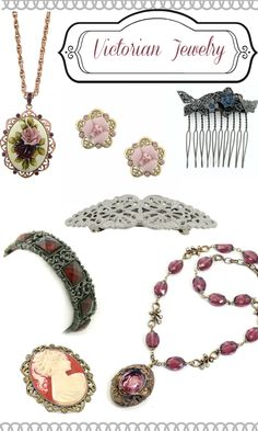 Victorian style costume jewelry. Shop at VintageDancer.com