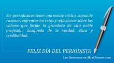 !Felicidades a todos los Profesionales del Periodismo...! Periodic Table, Healing, Education, Quotes, Competitor Analysis, Magazine, Inspiration, Truths, Frases