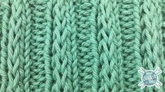 Example of the Fancy Slip Stitch Rib Pattern...This site has a bunch of awesome knitting pattern tutorials!  I'm hoping to use some of them to whip up some Christmas scarves this year! :)