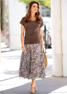 Dlhá sukňa Prekrásna potlač po celom • 27.99 € • bonprix