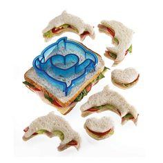 Kitchen Craft Let's Make Dolphin Shaped Sandwich Cutter: Amazon.de: Küche & Haushalt
