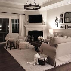 Corner Fireplace Ideas for Your Living Room to Improve Home Interior Visual - living room furniture arrangement ideas Cheap Living Room Sets, Cozy Living Rooms, New Living Room, Small Living, Modern Living, Modern Room, Apartment Living, Living Spaces, Leather Living Room Set