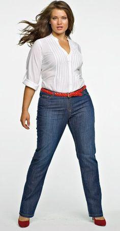 I like the fit of the jeans. I'm not a tuck in type