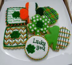 Saint Patrick's Day Cookies by Sweet Melissa's Cookies