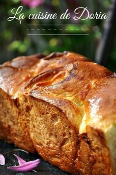 Brioche au caramel, à la crème et fleur de sel de Guérande - La cuisine de Doria