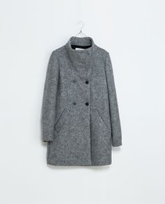 ZARA - TRF - LONG FUNNEL NECK COAT