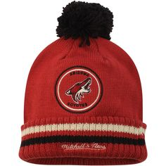 quality design 82040 872ba Men s Arizona Coyotes Mitchell   Ness Garnet Big Man Hi Five Cuffed Knit Hat