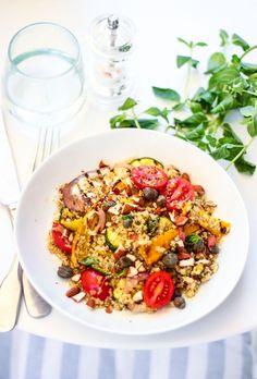 quinoa con verdure grigliate