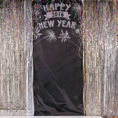 Personalized Happy New Year Photo Booth Backdrop - OrientalTrading.com