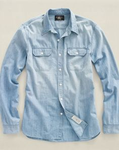 Waverly Chambray Workshirt - RRL Standard-Fit - RalphLauren.com