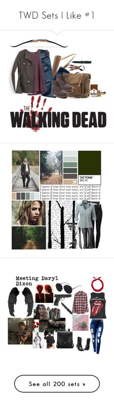 """""""TWD Sets I Like #1"""" by nerdbucket ❤ liked on Polyvore featuring art, thewalkingdead, OC, RickGrimes, Madewell, Topshop, Martha Jackson, Smith & Wesson, New Look and DarylDixion"""