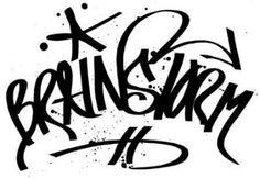 learn to tag graffiti - BRAINSTORM tag