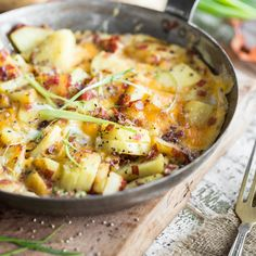 Knusprige Bratkartoffeln, Zwiebeln und Speck - das perfekte Frühstück, wenn die Nacht mal wieder zu lang und die Party zu wild war.