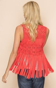 0baf7fa616 Beautiful Hand-Made Macramé Vest with long fringe. Get in touch with your  free
