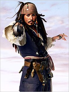 *CAPTAIN JACK SPARROW (Johnny Depp) ~ PIRATES OF THE CARIBBEAN: