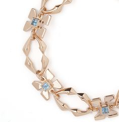 Beautifully hand carved this rose gold plated bracelet is inspired by the mythical creature Pegasus. £930
