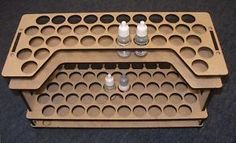 Laser Cut Paint Rack for Miniature Painting Hobby Desk, Hobby Room, Laser Cutter Projects, Cnc Projects, Paint Storage, Craft Room Storage, Air Brush Painting, Bottle Painting, Laser Cut Mdf