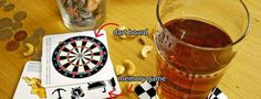 Bar Game Coasters: drink your drink playfully!