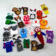 Pick 5 Animal Finger Puppets