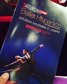 "Been looking forward to @ballethispanico performance of ""Saturday En Familia"" all week! #MacKid"