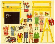 Steinssons - Tysk papir-dukke-ark, - motiv fra 1925