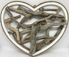 Driftwood on wood heart shape board Driftwood Sculpture, Driftwood Art, Coastal Art, Handmade Items, Handmade Gifts, Heart Shapes, Sculptures, Art Pieces, Etsy Seller