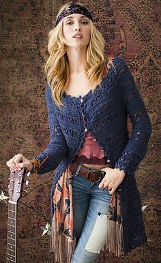 #37 Lace Coat by Lisa Daehlin This pattern is available for download for $6.00