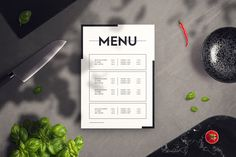 Restaurant Menu Mockup Features: - size- Shadow overlay- Editable via smart objects- High-res PSD Simple file, easy to work with Full package: Food & Restaurant Mockup Collection Restaurant Themes, Modern Restaurant, Menu Restaurant, Restaurant Design, Book Design Layout, Menu Design, Food Design, Wall Design, Birthday Nail Art