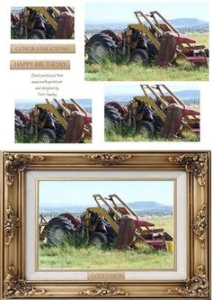 farm 2 on Craftsuprint - Add To Basket! Farm 2, Card Maker, 2 In, Decoupage, Birthday Cards, Greeting Cards, Congratulations, 3d, Tractors