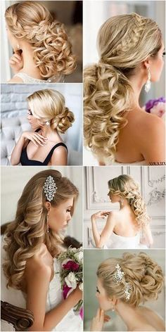 coiffures de mariée longue