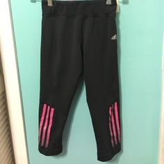 Adidas Capri Work Out Pants Rarely worn and in excellent condition! Too small for me! Adidas Pants Capris