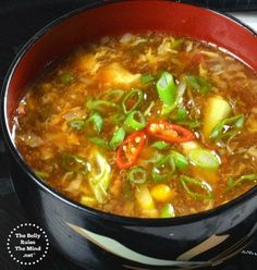 One of the BEST and EASIEST Indo-Chinese Manchow soup recipe ever. It is made with simple ingredients, takes 15 minutes and a zillion times better than takeout .. This soup popular in Indian Chines…