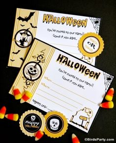 Printable Halloween Party Invittaions !! #halloween #chili #buffet #bar #party #partyideas #kids