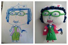 La abuela que convierte dibujos de niños en peluches