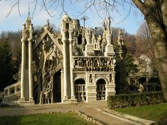 Ferdinand Cheval Palace was built by a postman in Hauterives, France, who intended to use it as his own tomb but haven't obtained a license for that. His Ideal Palace is now known around the world.