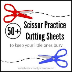 Here are 50+ FREE Scissor Practice Cutting Sheets to keep your little ones busy! Homeschool Giveaways is offering 50+ Scissor Practice Cutting Sheets! Cutting helps build your child's hand strength and dexterity, and it's lots of fun! Click here for more free preschool resources! Be sure to f...