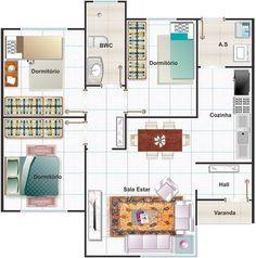 Planos de casas pequeñas con medidas en metros de una planta Más