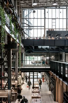 LocHal Public Library - Tilburg, The Netherlands by CIVIC Architects, Braaksma & Roos Architectenbureau, and Inside Outside/Petra Blaisse