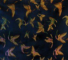 Stoff Blumen - 150 x 90 CM ! Herrliche Brokat Stoff gewebt feine - ein Designerstück von hibou_2 bei DaWanda