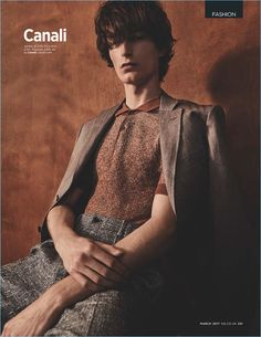 Jack Chambers dons a chic look from Italian brand, Canali.