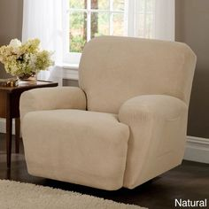 Maytex Reeves Stretch 4-piece Recliner Slipcover (