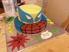 Spiderman and Wolverine 30th birthday cake
