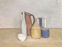 Giorgio Morandi, Natura morta / Still Life 1952 on ArtStack Italian Painters, Italian Artist, Simple Subject, Still Life Artists, Still Life Drawing, Art Courses, Beautiful Paintings, Art History, Painting & Drawing