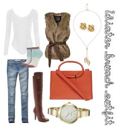 Winter brunch outfit by jennifer-campos-1 on Polyvore featuring polyvore, fashion, style, WithChic, WearAll, Abercrombie & Fitch, Stance, Bucco, Dorothy Perkins, Nine West, R.J. Graziano, River Island and clothing