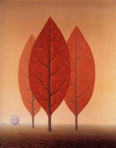 René Magritte (Belgian, 1898-1967), Les princes de l'automne [The Princes of Autumn], 1963. Oil on canvas